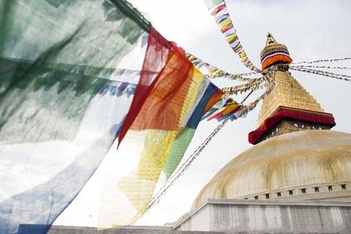 Nepal bandiere preghiera