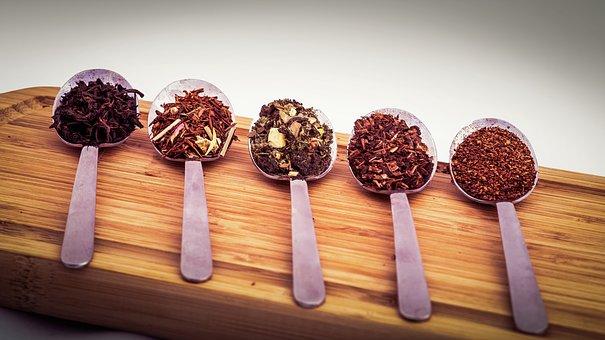 selezione di tè