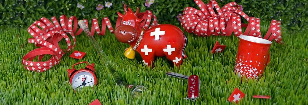 souvenir svizzeri ispirati alla bandiera nazionale