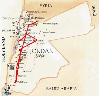 itinerario viaggio in giordania