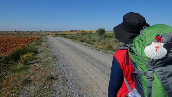 Pellegrino sul cammino di santiago