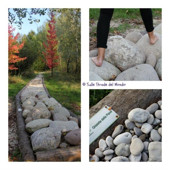 tratti del percorso con ciottoli di fiume
