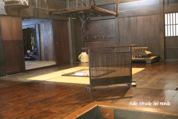 interno abitazione tradizionale di Takayama