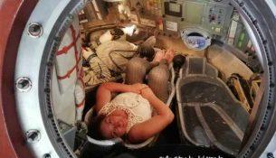 Simonetta Clucher a bordo della Soyuz