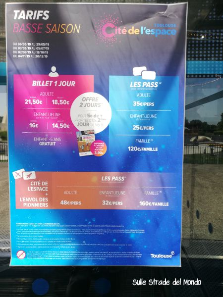 Tolosa città dello spazio biglietti