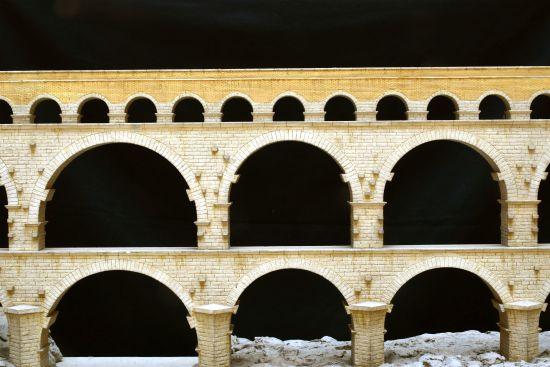 Plastico Pont du Gard Mostra Civis Civitas Civilitas