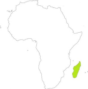 cartina africa Madagascar