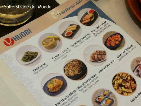 menu inaugurale huobi