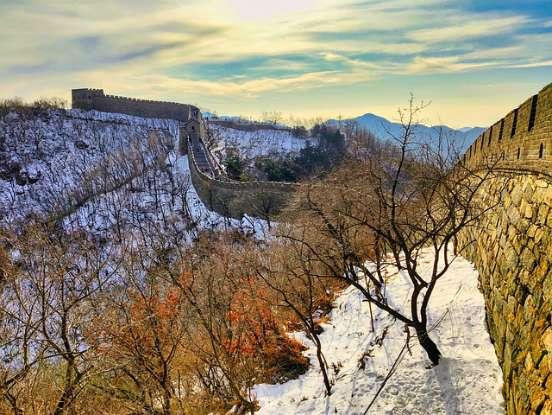panorama cinese con la neve