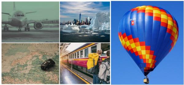 giro del mondo con 5 mezzi di trasporto diversi