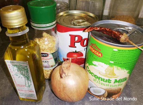 ingredienti per la ricetta del  Pescado a la santa barbara