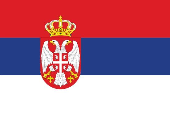 bandiera della repubblica di serbia
