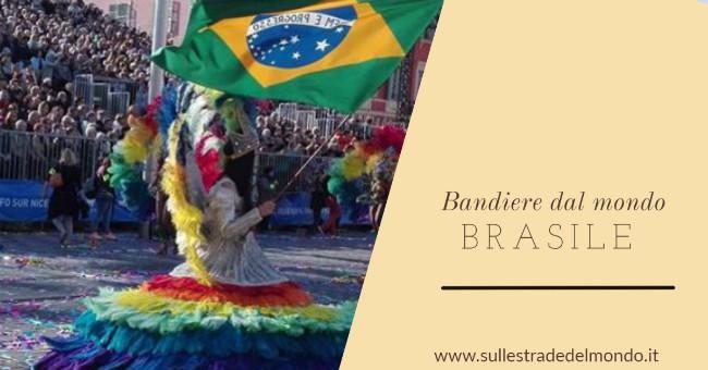 BANDIERA brasiliana al carnevale di Nizza