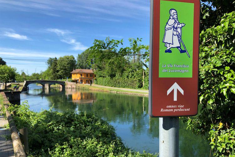 segnavia della Via Francisca del Lucomagno