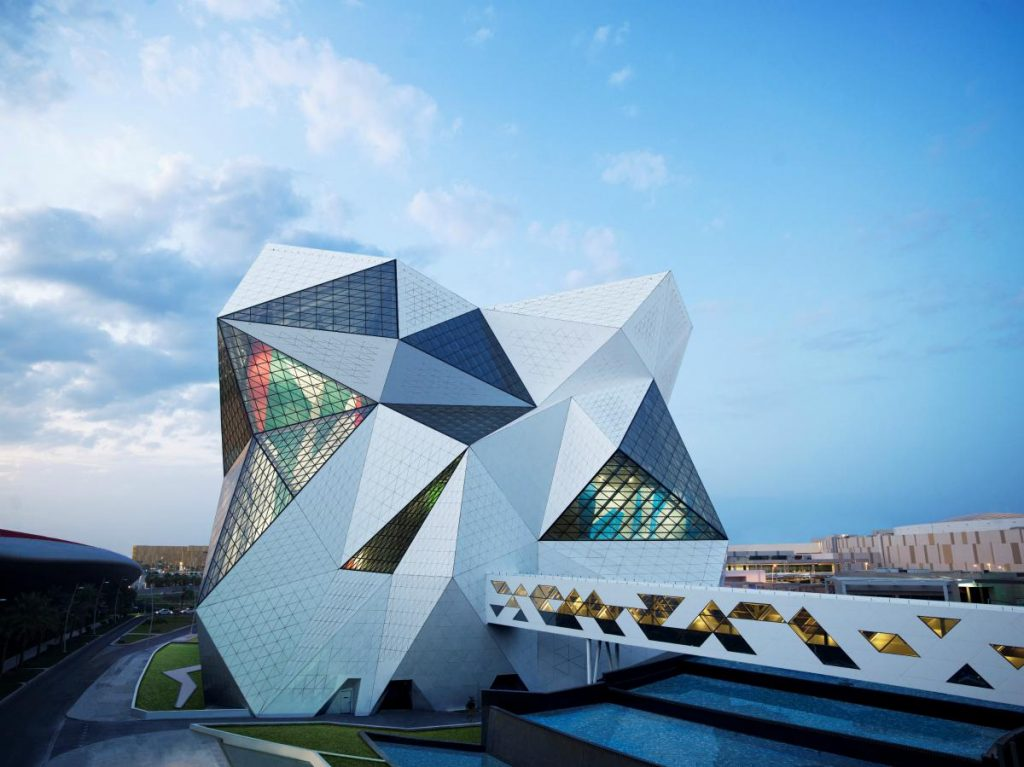 Esterno impianto arrampicata sportiva Adu Dhabi