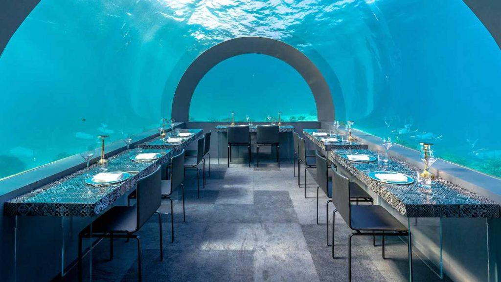 ristorante subacqueo alle Maldive