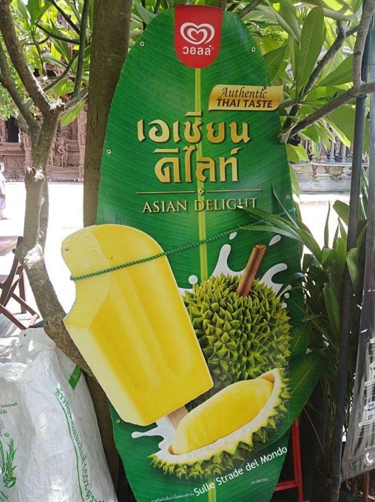 Thailandia la frutta durian gelato