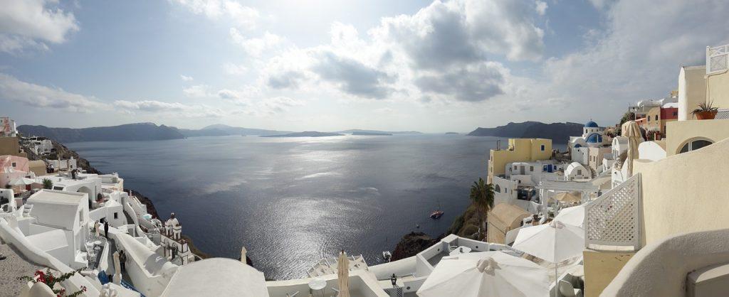 La caldera di Santorini