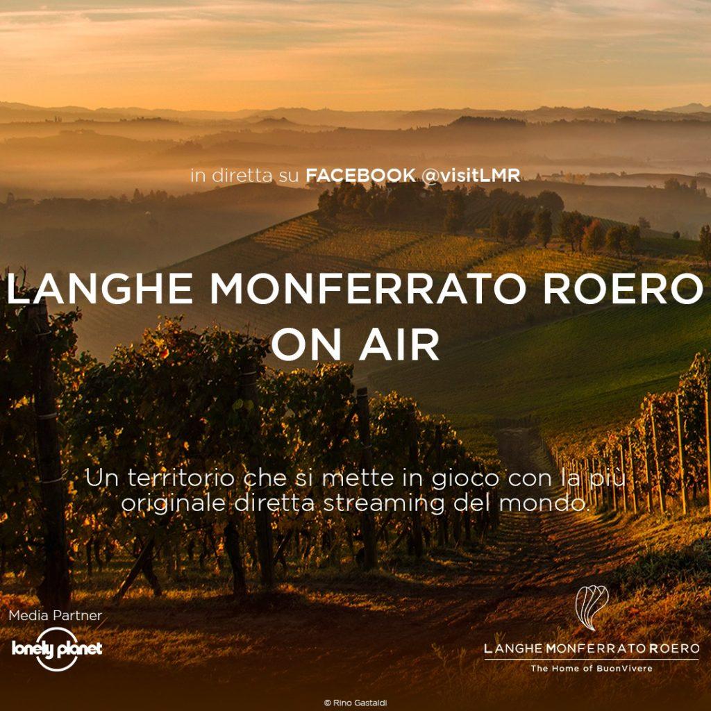Vino Langhe monferrato Roero on air