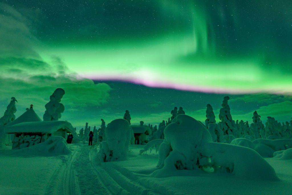 Inverno in Finlandia è anche aurora boreale