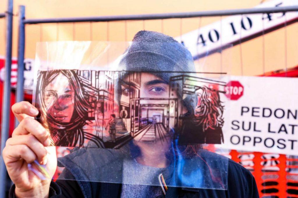 Alice Pasquini esponente della street art a Roma