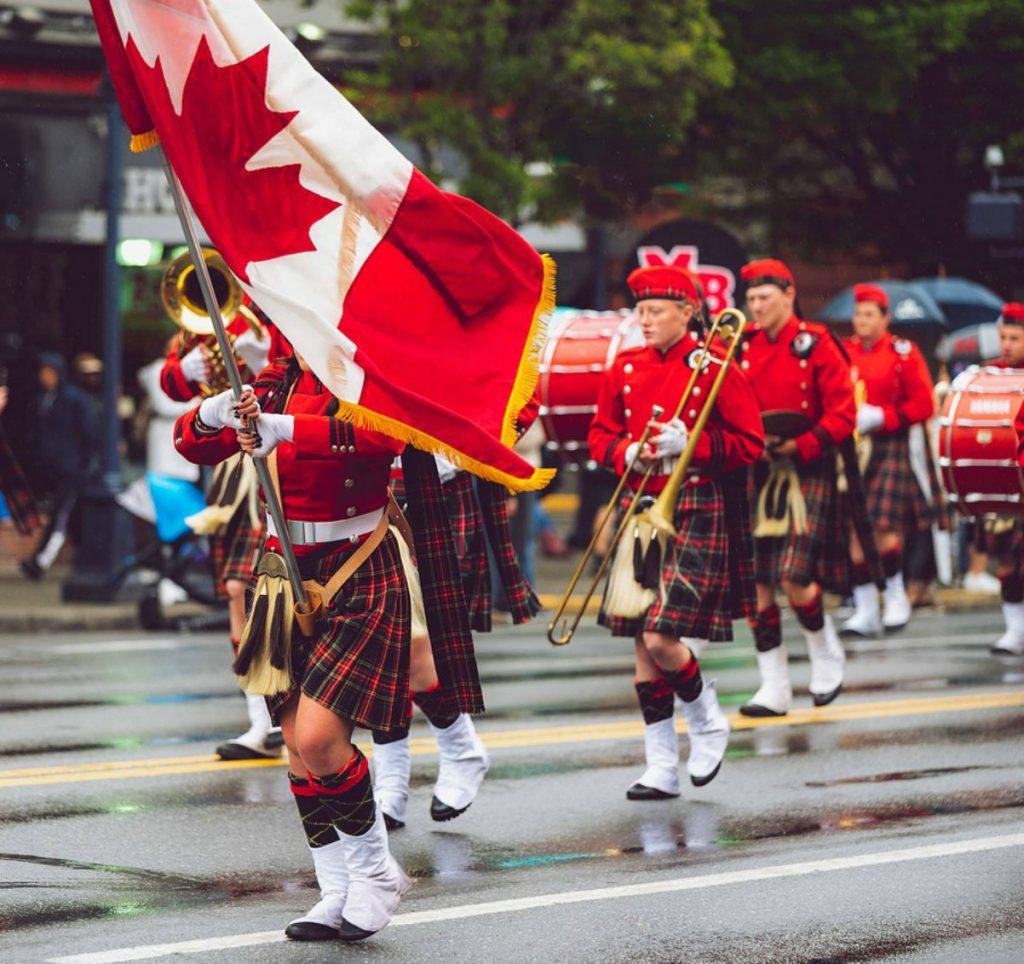 festa della bandiera canadese