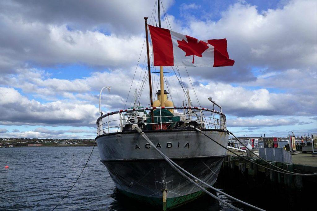 Bandiera del Canada peschereccio