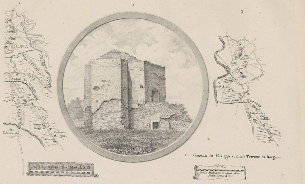 Antica mappa dell'800