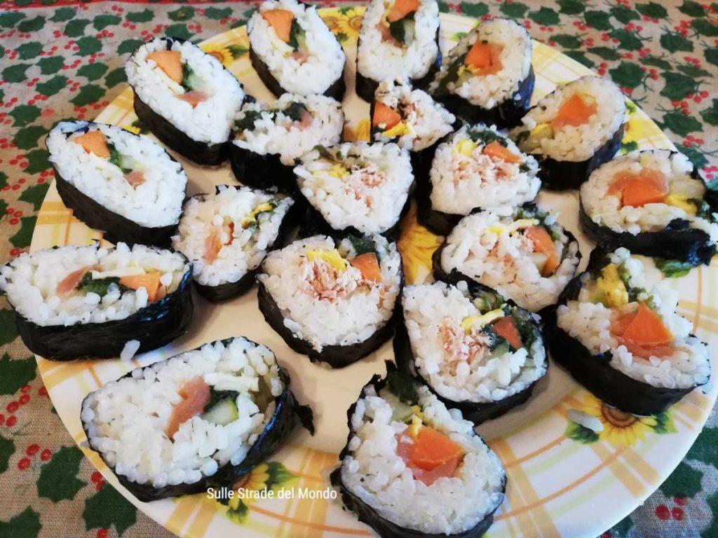 piatto di kimbap