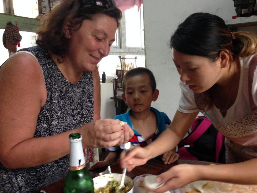 Io a Pechino impegnata a preparare ricette orientali