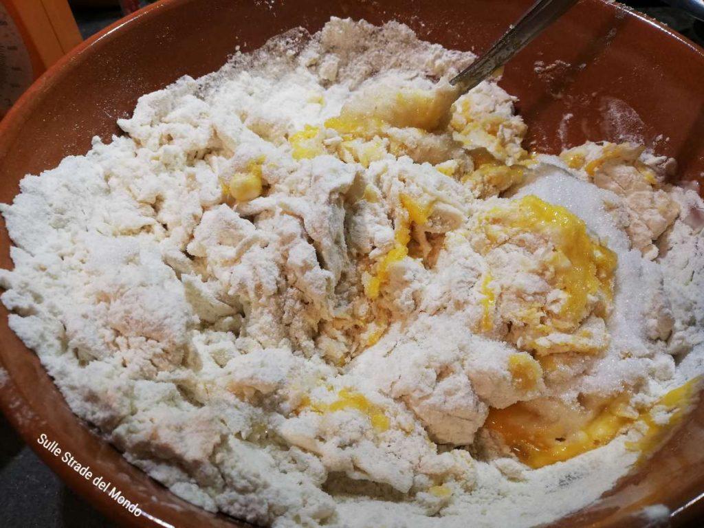 impasto per la ricetta Roscón de Reyes