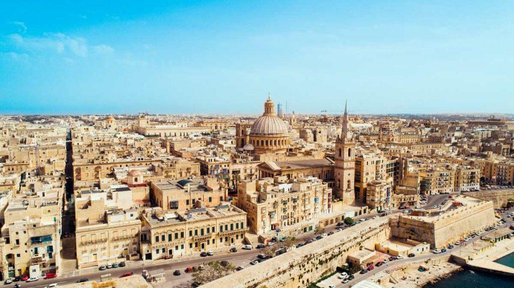 Veduta aerea de La Valletta