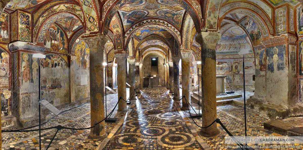 Una delle cose più belle da Cosa vedere ad Anagni è la Cripta di San Magno