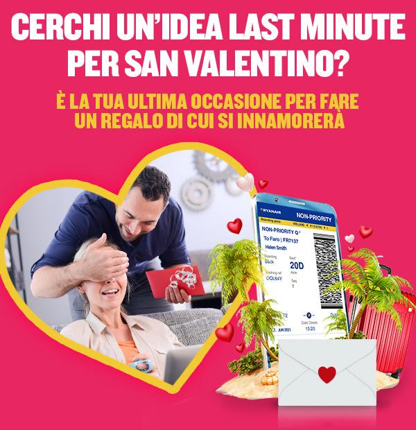 offerte san valentino  ryanair
