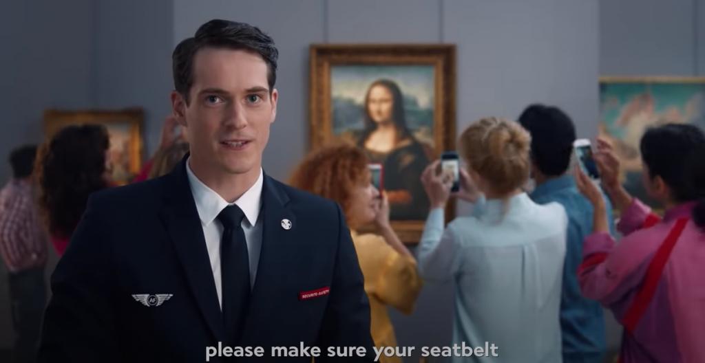 La Gioconda fa da sfondo al nuovo video Air France