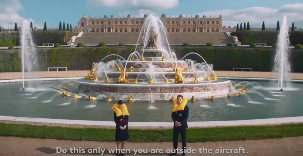 Giardini di versailles nel video Air France