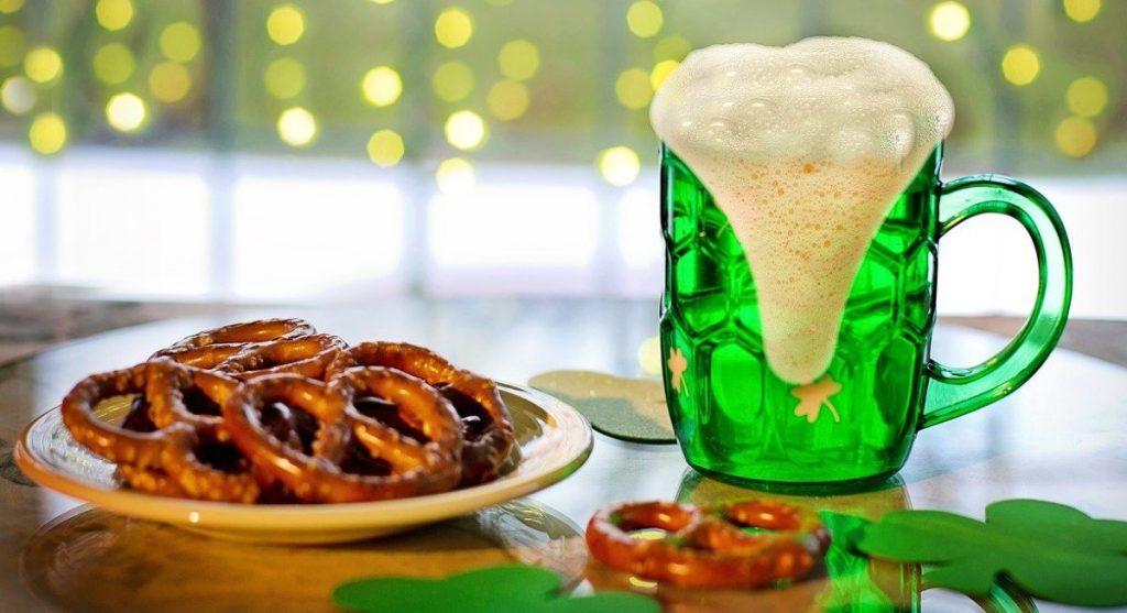 Birra verde a San Patrizio
