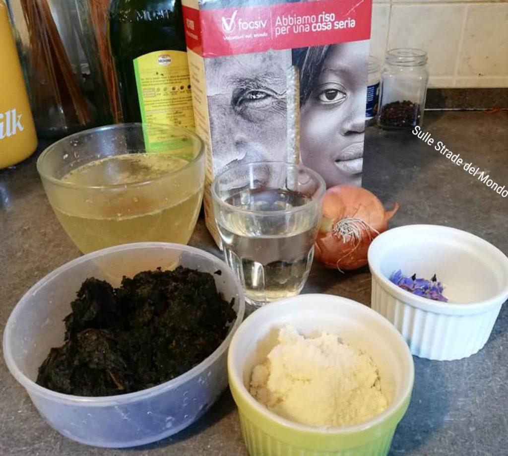 Ingredienti per la Ricetta del risotto alla borragine