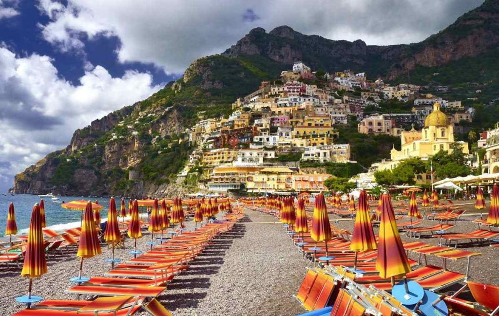 Marina Grande, Positano, una delle spiagge più belle della Campania