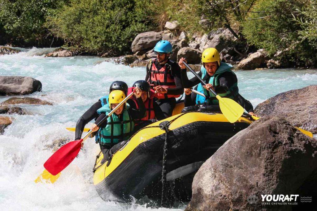 Fare rafting a Serre Chevalier