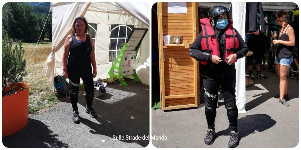 vestizione rafting