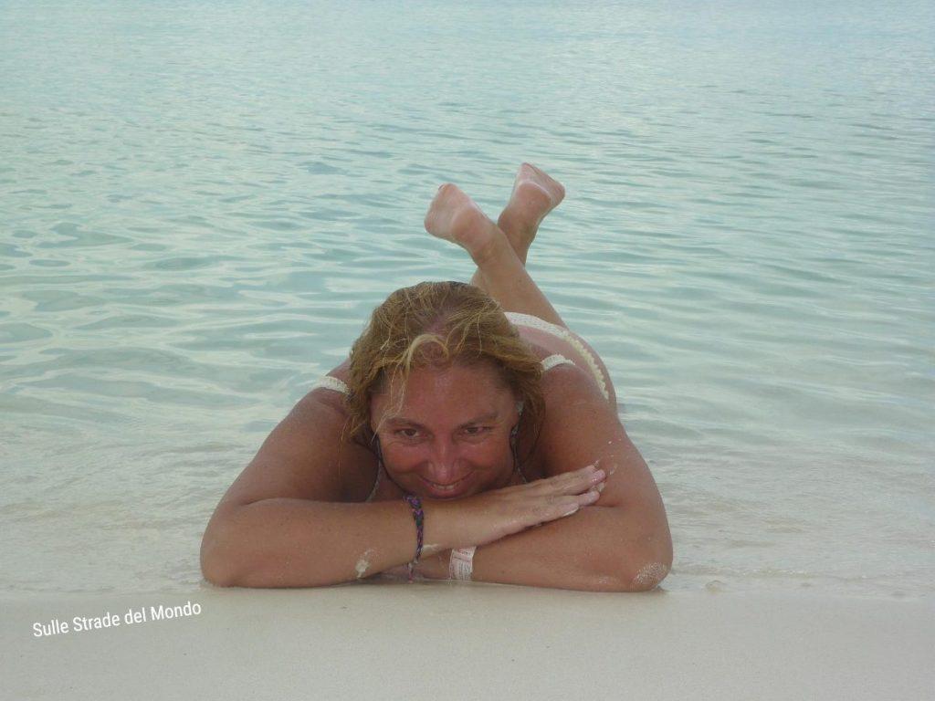 Simonetta Clucher a Isla Contoy