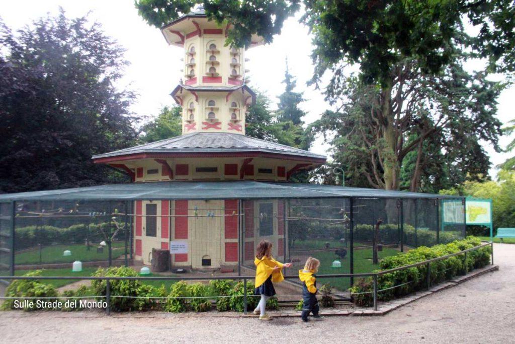 la grande voliera del Parco Thabor