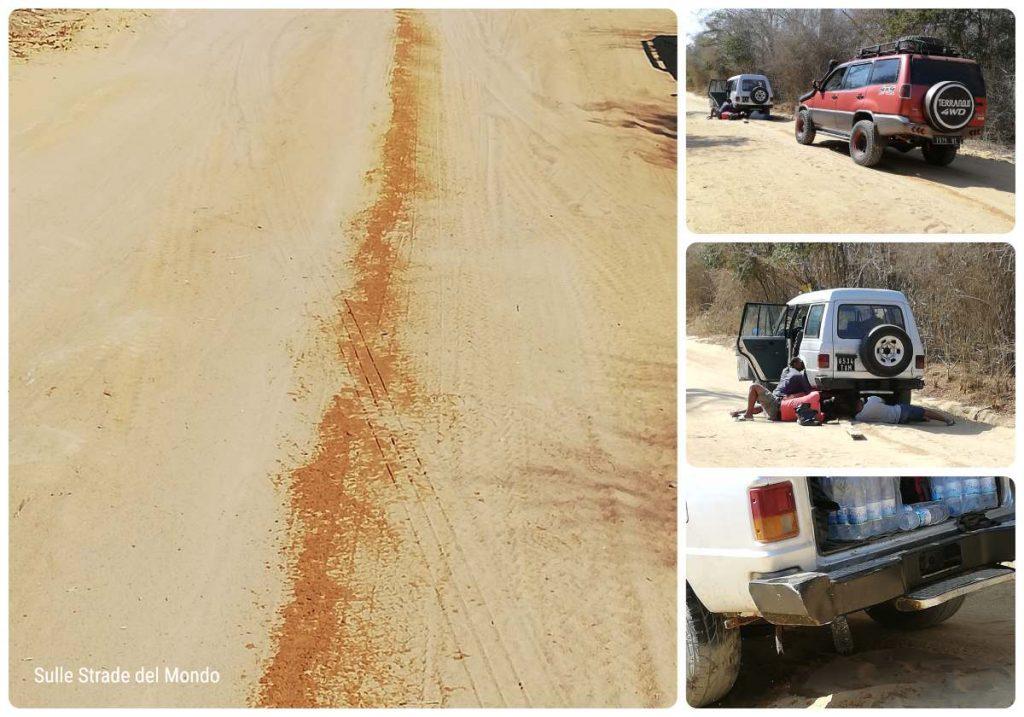 La perdita del carburante durante il viaggio verso Bekopaka