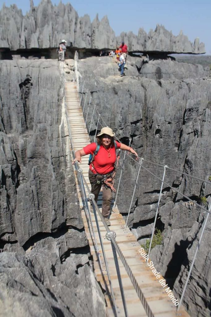 Madagascar, il ponte tibetano agli tsingy