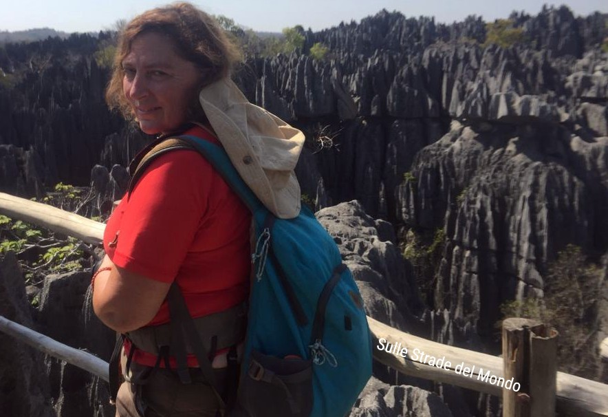 Simonetta Clucher in Madagascar agli Tsingy